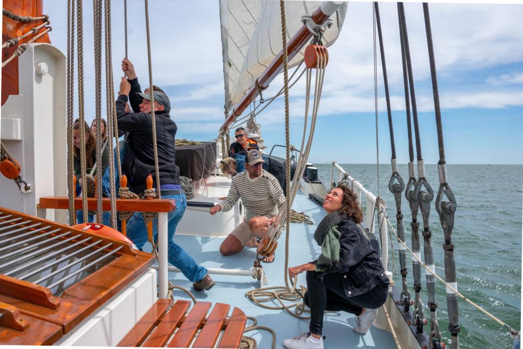 zeilen op de Waddenzee bij Terschelling