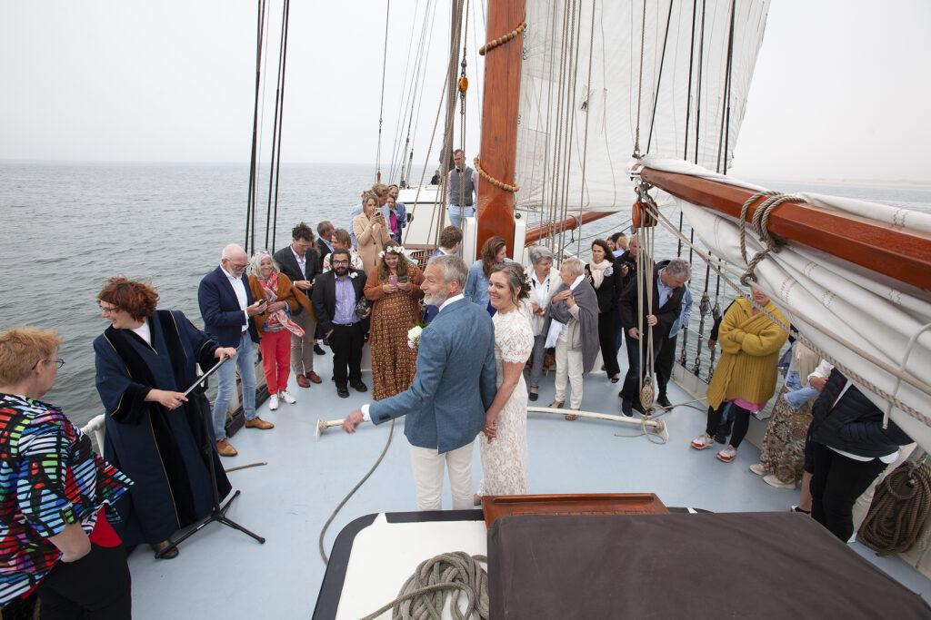 trouwen op zeilschip Terschelling